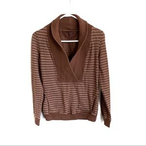 COH Striped Cowl Neck Pullover Sweater
